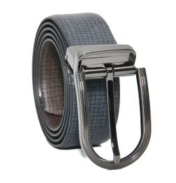 REVERSIBLE LEATHER BELT IN BLUE