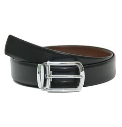 BLACK-BROWN FORMAL REVERSIBLE BELT
