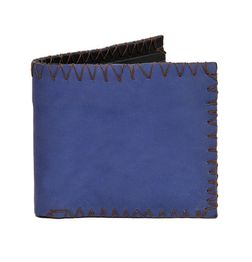 VINTAGE STYLE LEATHER WALLET - BLUE