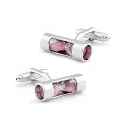 HOUR-GLASS CUFFLINKS PINK