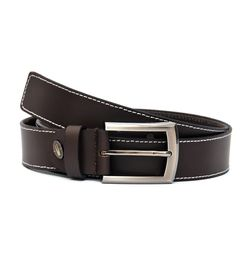 STYLISH SLEEK BROWN LEATHER BELT