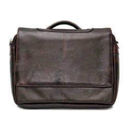 731dc8eab5e6 Sale. DARK BROWN LEATHER MESSENGER BAG