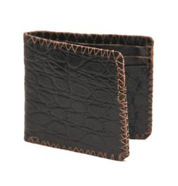 VINTAGE CROC LEATHER WALLET BLACK