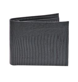 SNAKE PRINT LEATHER WALLET MIDNIGHT BLUE
