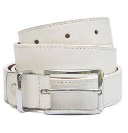 HIDEMARK LEATHER BELTS FOR WOMEN CLASSIC BUCKLE - WHITE