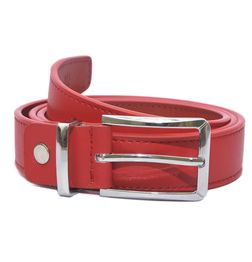 HIDEMARK LEATHER BELTS FOR WOMEN CLASSIC BUCKLE - VANETIAN RED