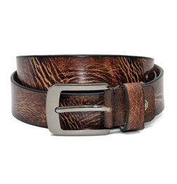 BROWN LEATHER CASUAL BELT