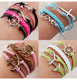 FREEGIFT- WOMEN'S LEATHER BRACELET WITH CHARMS
