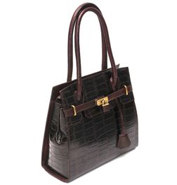 HIDEMARK CROC PRINT LADIES LEATHER HANDBAG