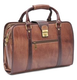 HIDEMARK DESIGNER BROWN LEATHER LAPTOP BAG