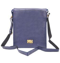 STYLISH BLUE LEATHER SLING BAG