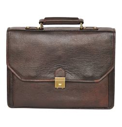 HIDEMARK BROWN LEATHER LAPTOP BAG