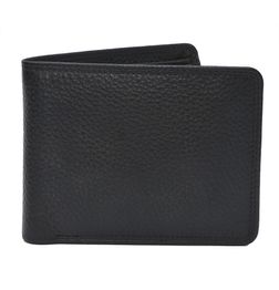HIDEMARK STYLISH BLACK TEXTURED LEATHER WALLET