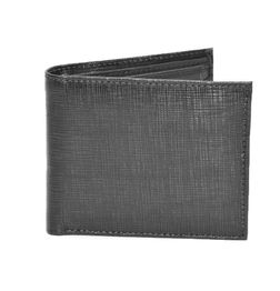 BLACK  TEXTURED PRINT ITALIAN LEATHER WALLET