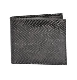 BLACK SNAKE PRINT ITALIAN LEATHER WALLET