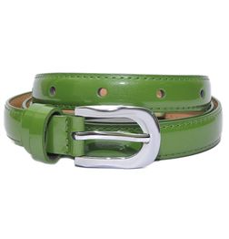 HIDEMARK LADIES ITALIAN LEATHER BELT - GREEN