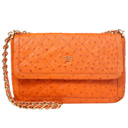 Da Milano Women's Lb-4037 Orange Ost Handbag