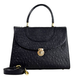 Da Milano Women's Lb-4096 Black Ost Handbag