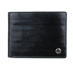 Da Milano Mw-0419B Black Bifold Wallet
