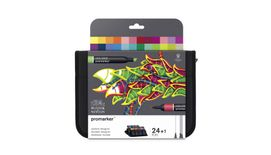 Winsor & Newton ProMarker - Twin Tip - Alcohol Based - Student Designer Wallet - Set of 24