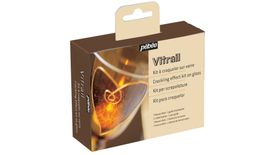 Pebeo Vitrail Crackling Effect Kit on Glass