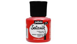 Pebeo Setasilk Paint - 45 ml Bottle - Poppy Red (05)