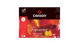 Canson Figueras 290 GSM 30 x 40 cm 4 Side Glued Pad of 10 Canvas Grain Sheets