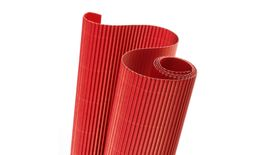 Canson Corrugated Cardboard Paper Roll - 300 GSM, 50 x 70 cm  - Bright Red