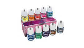 Pebo Setasilk Paint - 45 ml bottles - Assorted Set of 10 Colours