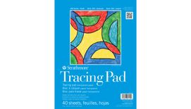 Strathmore 100 Series Tracing 9''x12'' Transparent White Fine tooth Paper, Short-Side Tape Bound Pad of 40 Sheets