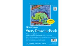 Strathmore 100 Series Story Drawing Book 8.5''x11'' White Light Grain / Smooth Paper, Long-Side Spiral Bound - 30 Sheets