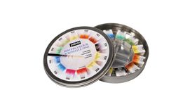 Pebeo Watercolour Aquarelle Fine Round Metal Gift Box of 12 half pan paints