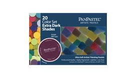 PanPastel Colors Ultra Soft Artist's Painting Pastels, Extra Dark Shades - 20 Assorted Colours