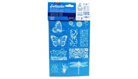 Pebeo Setacolor Silk Screen Stencil - Garden - A5 Size - 12 designs