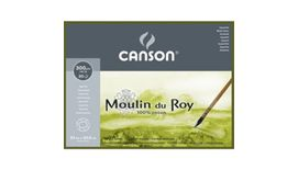 Canson Moulin du Roy 300 GSM 23 x 30.5 cm 4 Side Glued Pad of 20 Fine Grain Sheets