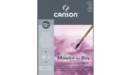 Canson Moulin du Roy 300 GSM 24 x 32.5 cm Pad of 12 Satin Grain Sheets