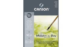 Canson Moulin du Roy 300 GSM 30 x 40.5 cm Pad of 12 Fine Grain Sheets
