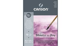 Canson Moulin du Roy 300 GSM 30 x 40.5 cm Pad of 12 Satin Grain Sheets