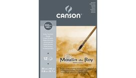 Canson Moulin du Roy 300 GSM 30 x 40.5 cm Pad of 12 Rough Grain Sheets
