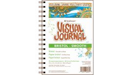 Strathmore 300 Series Visual Journal - Bristol Smooth - 5.5''x8'' Extra White - Extra Smooth - 270 GSM Paper, Long-Side Spiral Bound - 28 Sheets