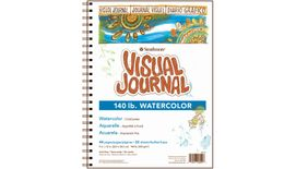 Strathmore 400 Series Visual Journal - Watercolor - 9''x12'' - Natural White - Medium Grain - 300 GSM Paper, Long-Side Spiral Bound - 44 Sheets
