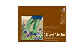"Strathmore 400 Series Mixed Media 18"" X 24"" Vellum / Fine Grain Short Side Glue Bond Pad"