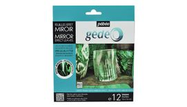 Pebeo Gedeo Mirror Effect Leaves - Green - 14 X 14 cms - Pack of 12
