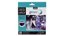 Pebeo Gedeo Mirror Effect Leaves - Blue  - 14 X 14 cms - Pack of 12