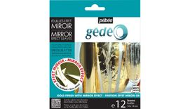 Pebeo Gedeo Mirror Effect Leaves - Gold - 14 X 14 cms - Pack of 12