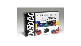 Pebeo Studio Acrylics High Viscosity Paint - 100 ml tubes - Assorted Set of 6 colours