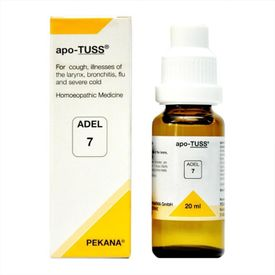 Adel 7 Apo-TUSS Drops  for symptoms of cold and cough