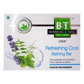 Schwabe B&T Refreshing Cool Bathing with Tulsi, Lavendula, Mentha, Neem. Bar Pack of 3