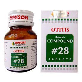 Bakson Compound 28 (Otitis) Tablets