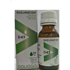 Doliosis D43 Rheumatism Drops, Controls Rheumatism and Gout
